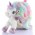 Unicorn Faux Fur Shoulder Backpack