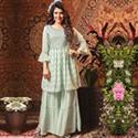 Embroidered Flared Kurta Sharara Set