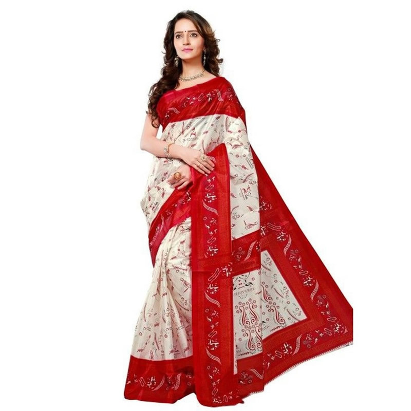 cebbb58e6 Littledesire Art Silk Printed Saree With Blouse