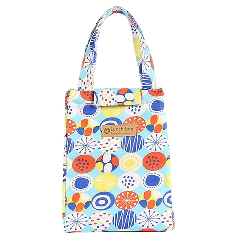 Thermal Insulated Canvas Tote Lunch Bag