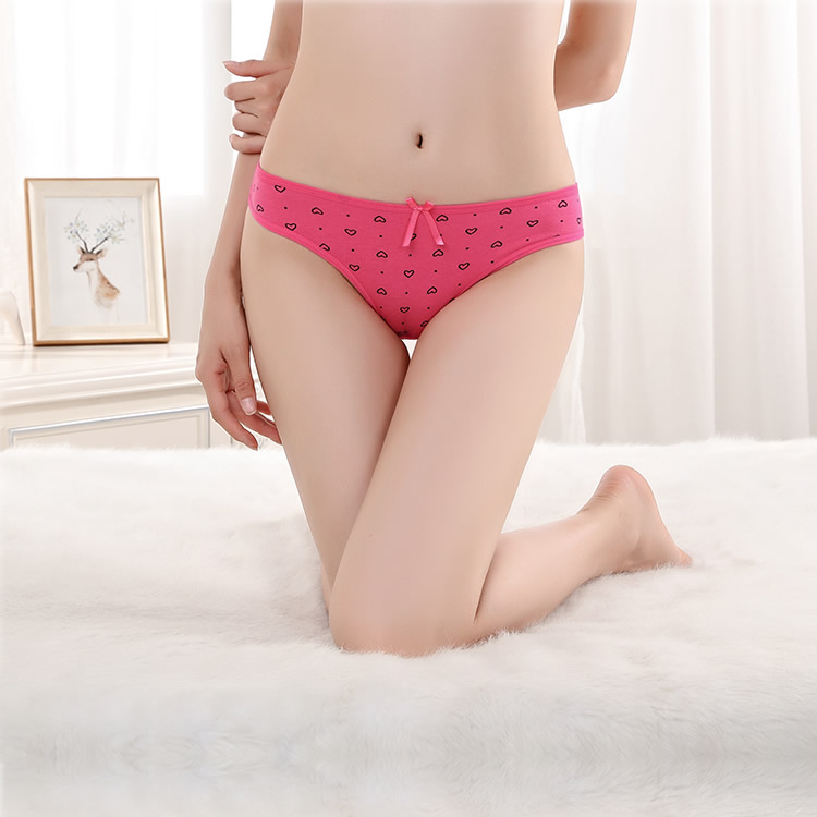 Pack of 2 Cotton Heart Sexy Thongs (Baby Pink+Blue) 1c1ec93fa