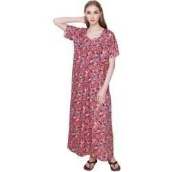 Littledesire Cotton Printed Night Gown