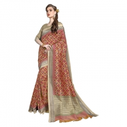 Littledesire Cotton Silk Signature Saree With Blouse