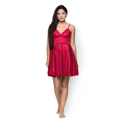 Littledesire Sleeveless Satin Sleepwear