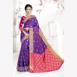 Littledesire Handloom Silk Saree With Jacquard Work