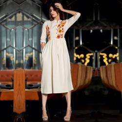 Littledesire Embroidered Designer Premium Cotton Kurta
