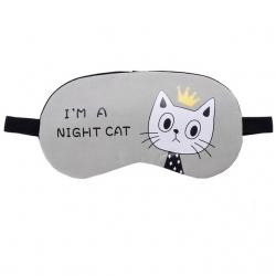 Littledesire Cartoon Cat Printed  Sleeping Eye Mask