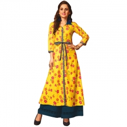 Littledesire New Stylish Flower Printed Long Kurta
