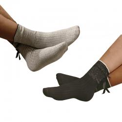 Littledesire Bow Cotton Socks Women & Girls 2 pairs