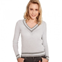 Littledesire V-Neck Long Sleeve Acrylic Sweater