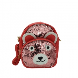 Littledesire Cute Cartoon Travel Sequins Glitter kids Backpack - 7 inch