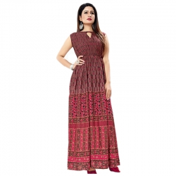 Littledesire Digital Print Long Kurta Dress