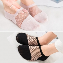 Littledesire Lace Mesh Fishnet Net Yarn Socks 2 Pairs