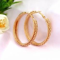 Littledesire Big Circle Hoop Golden Earrings