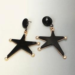 Littledesire Trendy Five-Pointed Star Acrylic Big Earrings