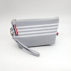 Littledesire Pink & Grey Travel Pouch Zipper Cosmetic Bag