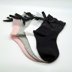 Littledesire Bow Cotton Socks Women & Girls 4 pairs