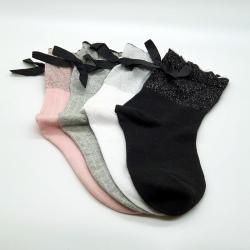 Littledesire Bow Cotton Socks Women & Girls 4 pairs