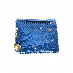 Littledesire Sequins Zipper Clutch Wallet With Key Ring 4.5 Inch