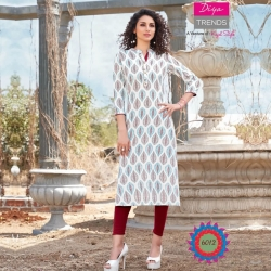 Straight Printed Mandarin Collar Kurta