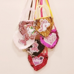 Birthday Party Return Gifts Sequins Cross-body Handbag 6 Pcs Random color