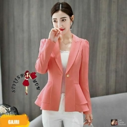 Solid Flare Tailored Jacket Women