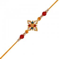 Designer Crystal-Embellished Rakhi
