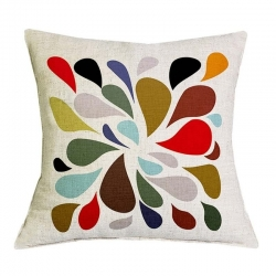Fashion Colorful Style Jute Cushion Covers