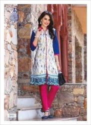 Littledesire Women Daily Wear Printed Front Slit Cotton Kurta