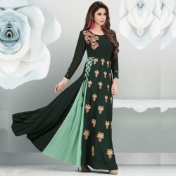Littledesire Latest Embroidered Long Stylish Georgette Kurta