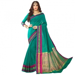 Littledesire Cotton Silk Woven Saree with Blouse