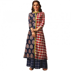 Littledesire New Stylish A-Line Printed Long Kurta