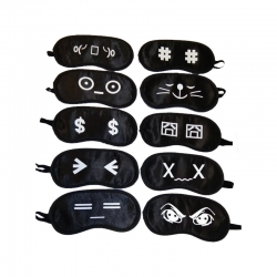 Birthday Party Return Gifts Kids Eye Mask Random Pattern - 10 Pcs Lot