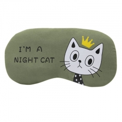 Littledesire Cartoon Cat Printed  Sleeping Eye Mask