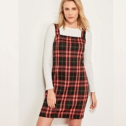 Littledesire Check Plaid Full Sleeve Winter Dress