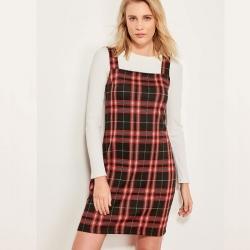 Littledesire Check Plaid Full Sleeve Winter Dress
