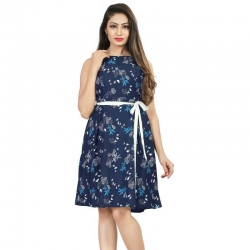 Littledesire Floral Printed Sleeveless Short Dress