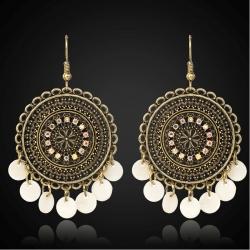 Littledesire Vintage Beads Round Dangle Drop Earring