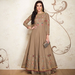 Littledesire Soft Silk Embroidered Designer Gown