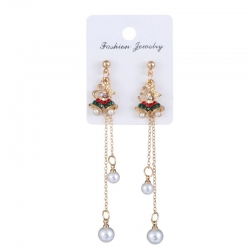 Littledesire Fashion Christmas Tree Cute Long Earring