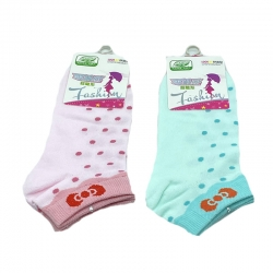 Littledesire Dot Random Color Women Cotton Socks 2 Pairs