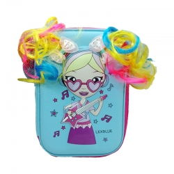 Stylish Hair Girl Hardtop EVA Pencil Box