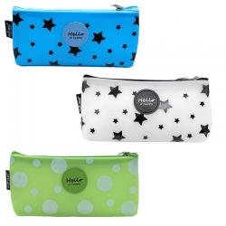 Littledesire Polka Dot & Star Printed Pencils Box  3 Pcs