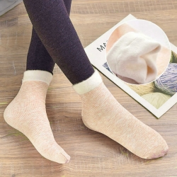 Soft Faux Fur Thermal Warm Breathable Women Winter Socks