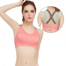 Latest  Cross Strap Gym Fitness Running Yoga Sport padded Bralette