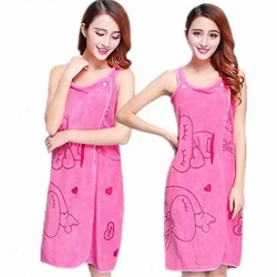 Wearable Fast Drying Clothes Soft Microfiber Bath Towel Bathrobes