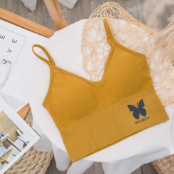 Butterfly Glow Seamless Push Up Padded Bralette Crop Top