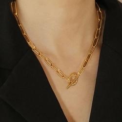 Littledesire Golden Link Choker Necklace