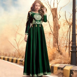 Littledesire Embroidered Design Silk Gown