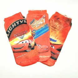 Car Printed  Socks for Kids 6 to 13 Years - 3 Pairs